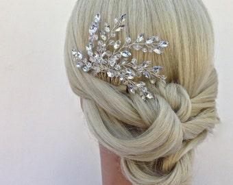 Crystal Bridal Hair Comb, Wedding Hair Comb, Crystal Hair Comb, Bridal Headpiece, COLOR CHOICES
