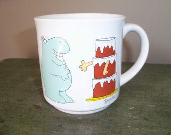 Vintage Boynton Humor Ceramic Coffee Mug Funny Diet Carbohydrate