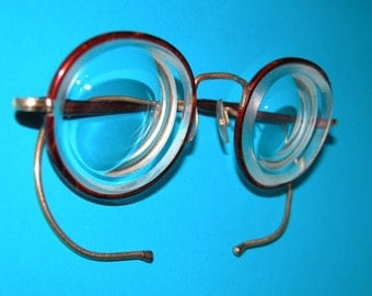 Vintage Child's Corrective Pair of Spectacles plus Case
