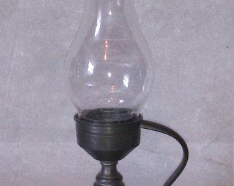 Zinn Bleifrei SMU Candlestick w/ Handle & Hurricane