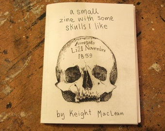 A small zine with some skulls I like