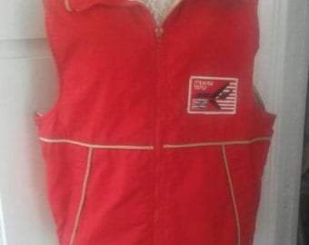Vintage Wiman Red Vest Sports Men Size Large Made in USA