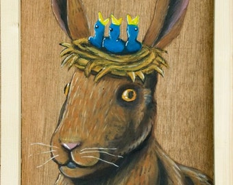 March Hare. Alice in Wonderland painting