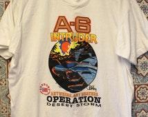 Vintage A-6 Intruder Operation Desert Storm Jet Plane T Shirt