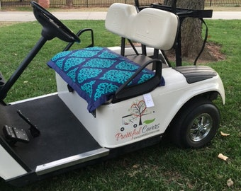 Golf Cart Seat CoverNavy and Turquoise