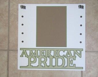 Military AMERICAN PRIDE Premade Scrapbook Page