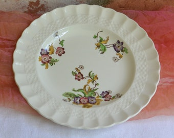 1960's Spode Plate - England - Copeland, Wicker Lane, Salad/Dessert - Vintage - Beautiful!