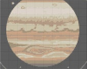 Jupiter Solar System Cross Stitch Pattern Simple & Fun PDF