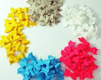 Wholesale 100 Piece  Felt Bows - Tie - DIY- Mixed Color or Your Choice of Color