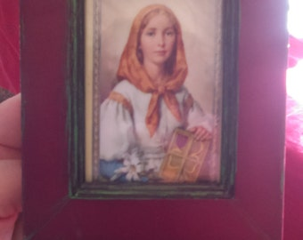 Saint Dymphna Prayer Card Framed