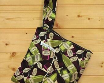 Knitting Bag, Crochet, Knit, Yarn, Wool, Wine, Yarn Storage, Yarn Bag with Hole, Grommet, Handle, SYB30