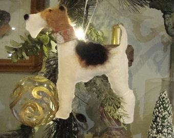 Fox Terrier Felt Decoration