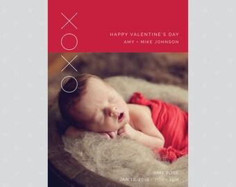 PRINTABLE Valentine Day Card, Photo Valentines Card, Valentines Day Card, Valentine Card