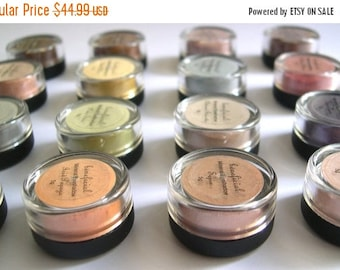 60% OFF - 15 Percent Off - PICK 10 - Mineral Eye Shadow Makeup - FULL 5g Pure Natural Vegan Eye Color