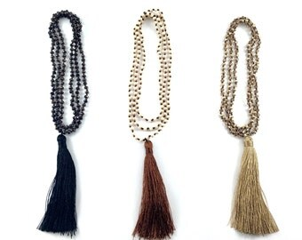 Hand-knotted Tassel Necklace