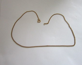 Vintage Gold tone Chain Necklace 14 inch
