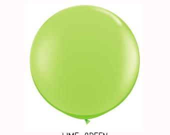3 ft Lime Green Round Balloon