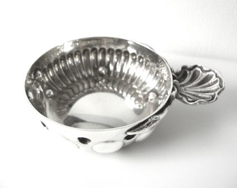 Antique French Sterling Silver Wine Taster Cup By Henin & Cie