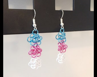 Trans Pride Charity Earrings - Chainmaille