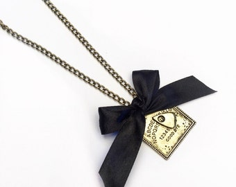 Ouijaboard Bow Necklace