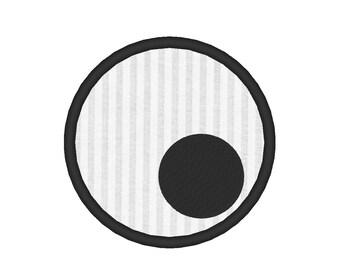 Googly Eye Applique Halloween Embroidery Machine Design
