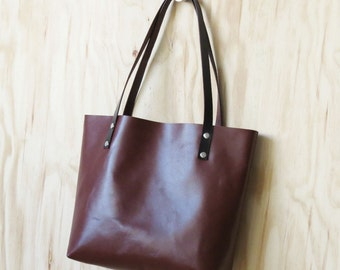 Brown Leather Bag, Classic Leather Tote Bag, Brown Leather Shoulder Bag, Handmade Leather Bag, Leather Laptop Bag, Carryall, Gift for her