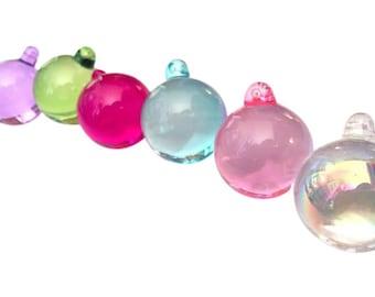 6 SMOOTH 30mm Chandelier Crystal Ball Prisms -Pink Aqua Lilac Spring Green Fuchsia AB