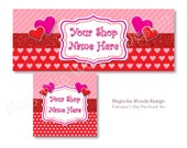 Valentine's Day Facebook Cover Photo, Facebook Business Timeline Set, Facebook Timeline, Facebook Profile, Facebook Image Set, Digital Files