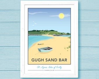 Gugh Sand Bar, St. Agnes, Isles of Scilly Giclee Print
