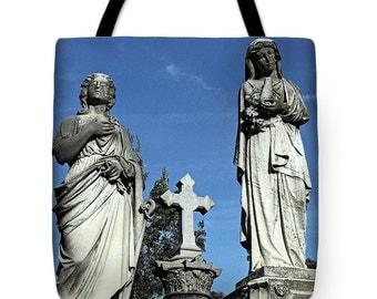 Tote Bag, Beach Bag, Shoulder Bag, Carryall Bag, Religious Tote, Christian Tote, Catholic Tote