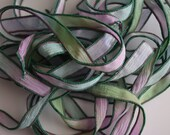 Water Lilies - 42 inch Hand Dyed Silk Ribbon by Fanciful Wish Jewelry