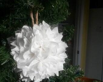 Rustic shaggy cloth ornament