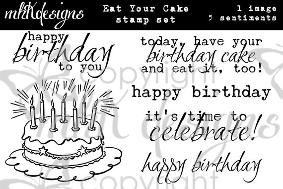 Eat Your Cake Digital Stamp Set