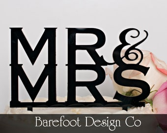 Personalized Acrylic  Mr Mrs Wedding Cake Topper