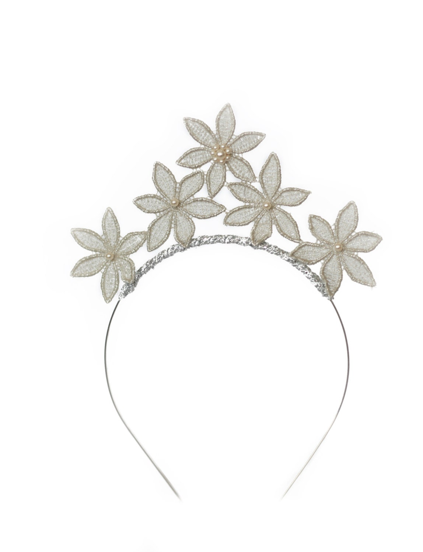 Bridal lace headbandwedding boho lace crownsilver flower headband bridal lace headbandwedding boho lace crownsilver flower headbandstar headband izmirmasajfo Image collections
