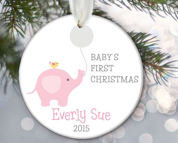 Baby's First Christmas Ornament Elephant Baby Ornament