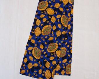 """Vintage Authentic CELINE PARIS silk scarf - Blue - 10"""" x 51"""""""