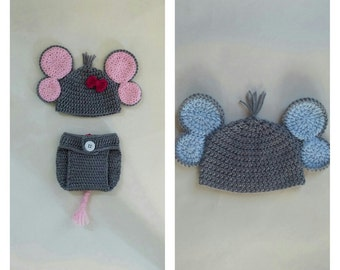 crochet baby elephant outfit