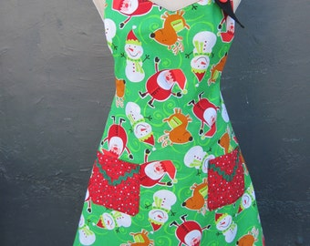Reversible Holiday Apron - Item A