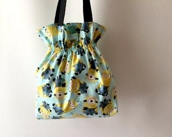 Minions Tote Bag, Minions Purse, Minions Satchel, Stuart Minion Bag, Blue Tote, Blue Bag, Diaper Bag