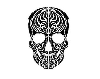 tribal skull embroidery design