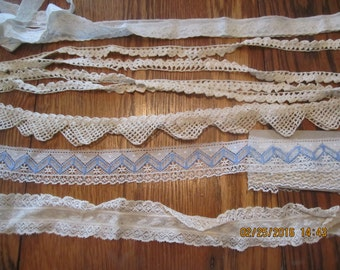 Lot of Hand Made Lace Crochet Pillowcase Vintage