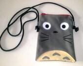 Crossbody bag, Hip bag Totoro  16x22cm/6x9 inches