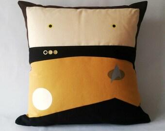 Star Trek TNG inspired Data pillow cushion cover 40x40 cm 16x16 inches
