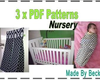 Bulk PDF Pattern - Nursery Pack x 3 patterns