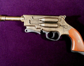 Steampunk Gun Pistol Revolver Mal's Gun Firefly Western Cosplay Gun LARP