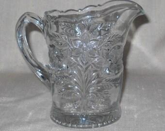 Indiana Glass Company Narcissus Spray Pattern Creamer