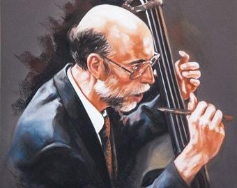 Pastel portrait of musician