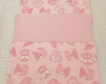 Baby Animals (Pink) Burp Cloths