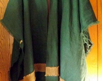 Hills of Engedi 100% Linen Tunic Vest, Snood Cap, Prayer Scarf Shawl 3-Piece Ensemble